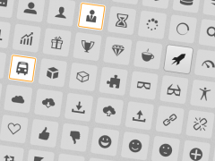 Screenshot: Icons von IcoMoon