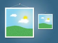 Zwei Beispielbilder in groß und klein
