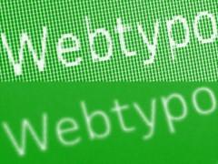 Zweimal das Wort »Webtypo« in weiß auf grünem Grund