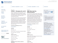 Screenshot: Ankündigung des W3C-Tages