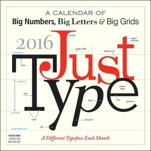 Just Type Calendar 2016
