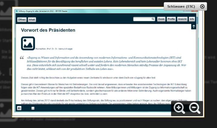 Ausschnitt Seite 3 - Handbuch VIP-Reader im Kontrastmodus des VIP-Readers. Zugeschaltete Grafik