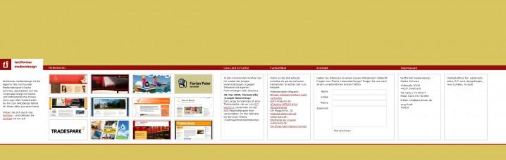 Relaunch von textformer.de - 1. Versuch