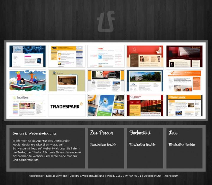 Relaunch von textformer.de - 2. Versuch