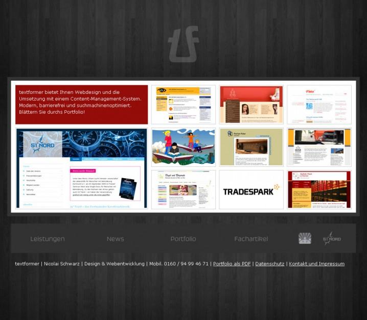 Relaunch von textformer.de - 3. Versuch