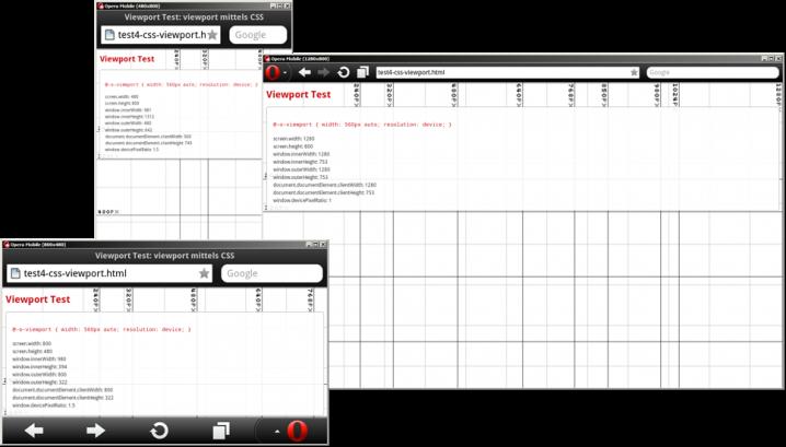 CSS @viewport setzt nur bei kleinen Displays die minimale Breite