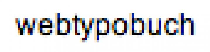 Textbeispiel mit Subpixel-Glättung