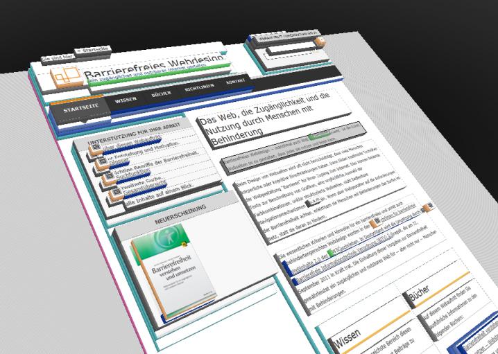 3D-Visualisierung des Codes der Startseite