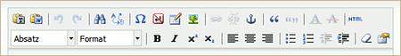 Beispiel 3: Angepasste TinyMCE-Buttonleiste in MODx Evolution 1.0.4