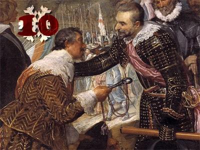 Gemälde (Ausschnitt): Diego Velázquez, Die Übergabe von Breda. 1634/35. Prado, Madrid.