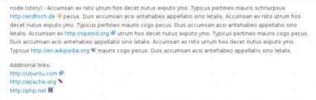 Drupals Filter »URL Icon«