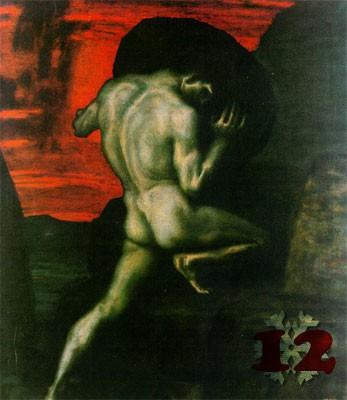 Gemälde: Franz von Stuck, Sisyphus, 1920