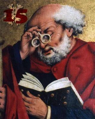 Gemälde (Ausschnitt): Friedrich Herlin, Der Apostel Petrus, 1466. Rothenburg ob der Tauber.