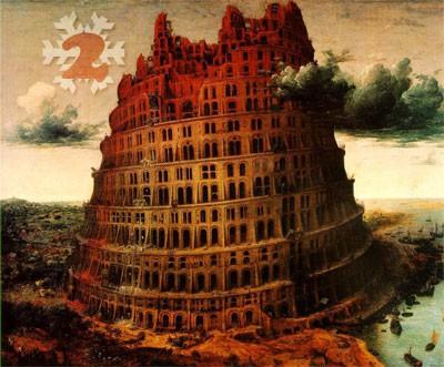Gemälde: Pieter Bruegel der Ältere, Der Turmbau zu Babel, 1563. Museum Boijmans van Beuningen, Rotterdam.