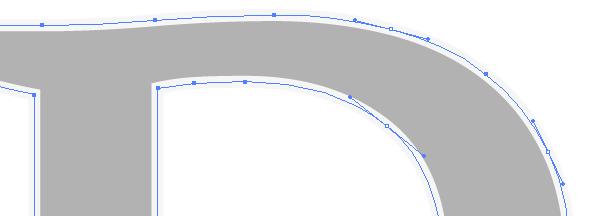 Die Vektor-Bézierkurven eines Buchstaben
