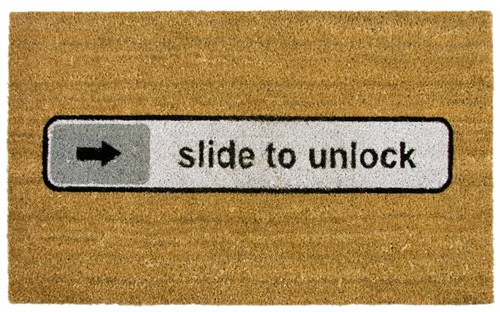 Fussmatte in »Slide To Unlock«-Optik