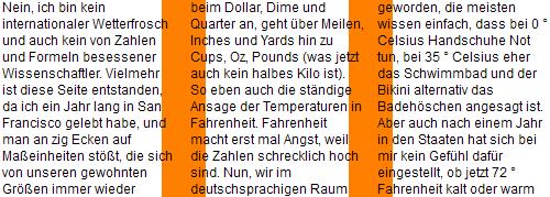 Firefox 8 Screenshot - dreispaltige Darstellung, die Trennlinie überlagert den Text der Spalten