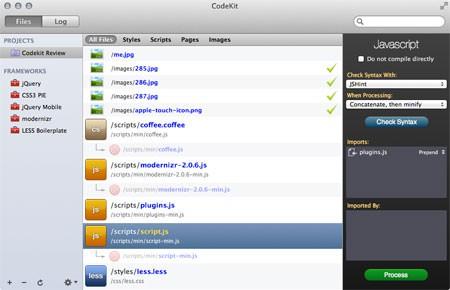 Screenshot: Javascript Optionen