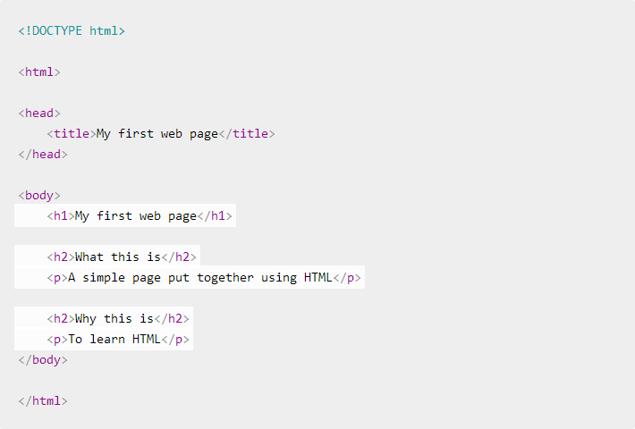 Syntax Highlighting bei HTML Dog