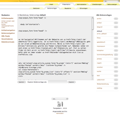 Seitenvorlagen in Textpattern