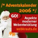 Banner für den Adventskalender 2006 in der Größe 125x125