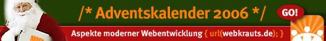 Banner für den Adventskalender 2006 in der Größe 468x60