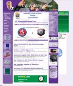 Screenshot der Webseite von Erzgebirge Aue, verkleinert