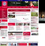 Screenshot der Webseite des FC Bayern München, verkleinert