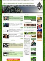 Screenshot der Webseite von Borussia Mönchengladbach, verkleinert