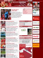 Screenshot der Webseite von Energie Cottbus, verkleinert