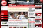 Screenshot der Webseite von Eintracht Frankfurt, verkleinert