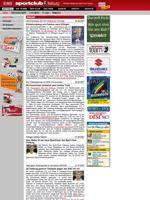 Screenshot der Webseite des SC Freiburg, verkleinert