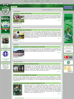 Screenshot der Webseite von Greuther Fürth, verkleinert