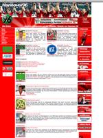 Screenshot der Webseite von Hannover '96, verkleinert