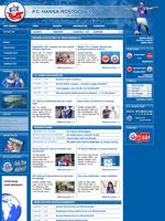 Screenshot der Webseite von Hansa Rostock, verkleinert