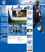 Screenshot der Webseite von Hertha BSC Berlin, verkleinert