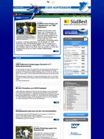 Screenshot der Webseite des TSG Hoffenheim, verkleinert