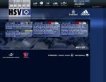 Screenshot der Webseite des HSV, verkleinert