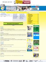 Screenshot der Webseite des FC Carl Zeiss Jena, verkleinert