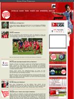 Screenshot der Webseite der Kickers Offenbach, verkleinert