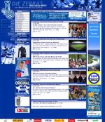 Screenshot der Webseite des MSV Duisburg, verkleinert