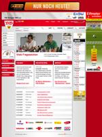 Screenshot der Webseite des VfB Stuttgart, verkleinert
