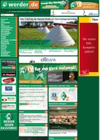 Screenshot der Webseite von Werder Bremen, verkleinert