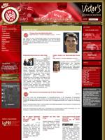 Screenshot der Webseite des SV Wehen Wiesbaden, verkleinert