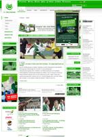Screenshot der Webseite des VfL Wolfsburg, verkleinert