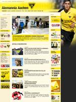 Screenshot von der Webseite von Alemannia Aachen, verkleinert