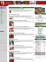 Screenshot von der Webseite des FC Augsburg, verkleinert