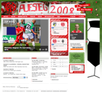 Screenshot der Webseite von Mainz '05, verkleinert
