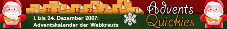 Banner: 1. bis 24. Dezember 2007: Adventskalender der Webkrauts
