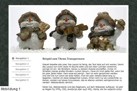 Abb 1: Beispiel-Webseite ohne Button